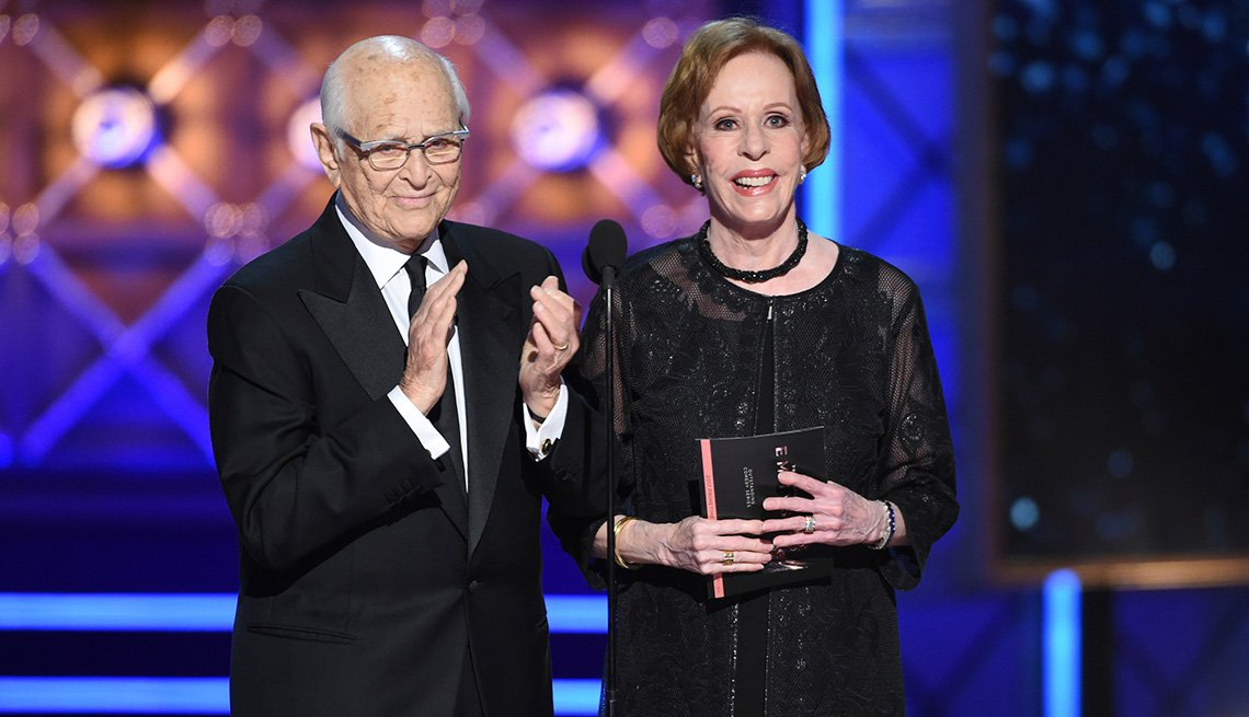 Norman Lear and Carol Burnett present the award for outstanding comedy series