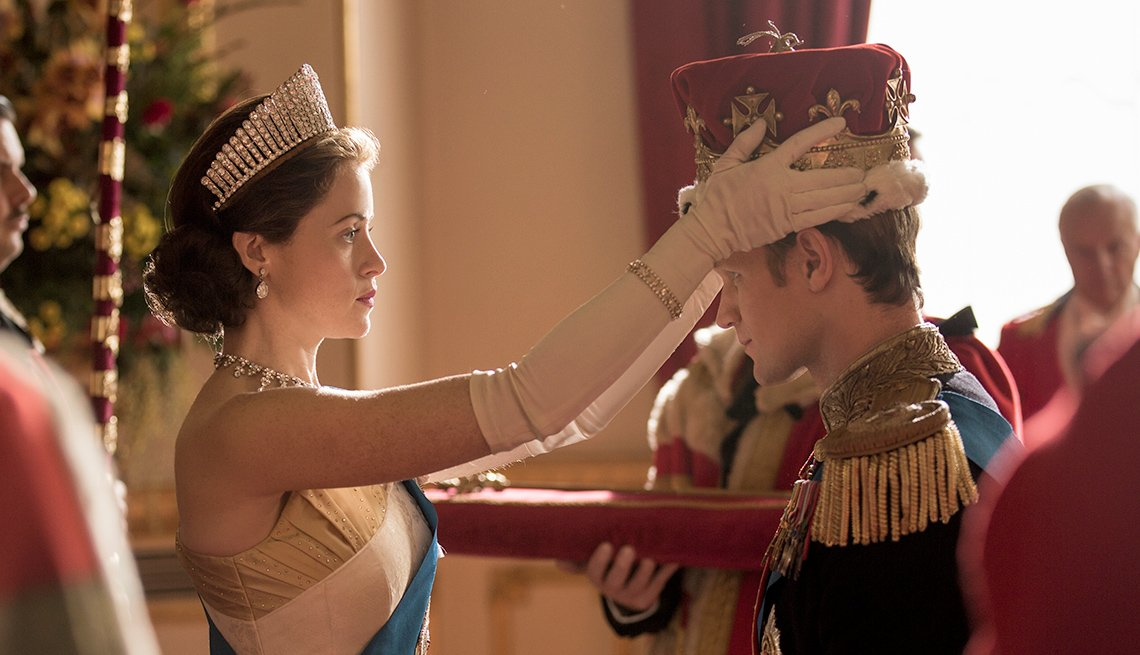Claire Foy and Matt Smith on 'The Crown'