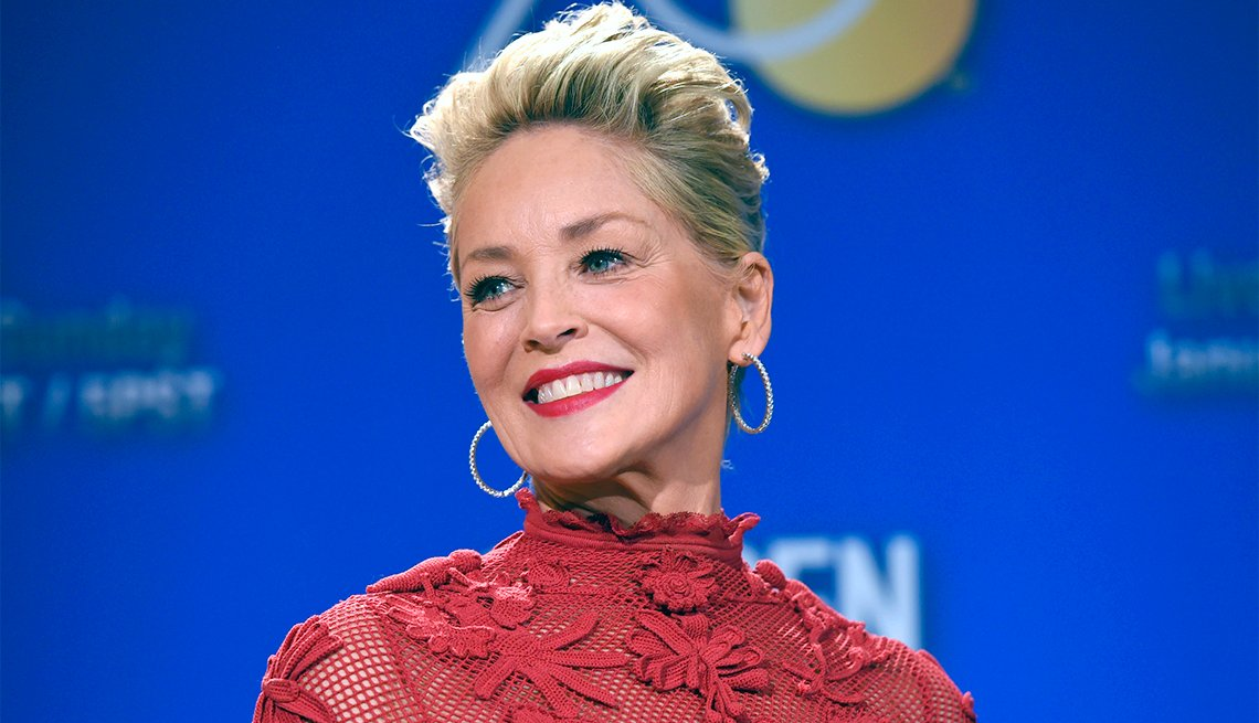 Sharon Stone at the 75th Annual Golden Globe Awards Nominations