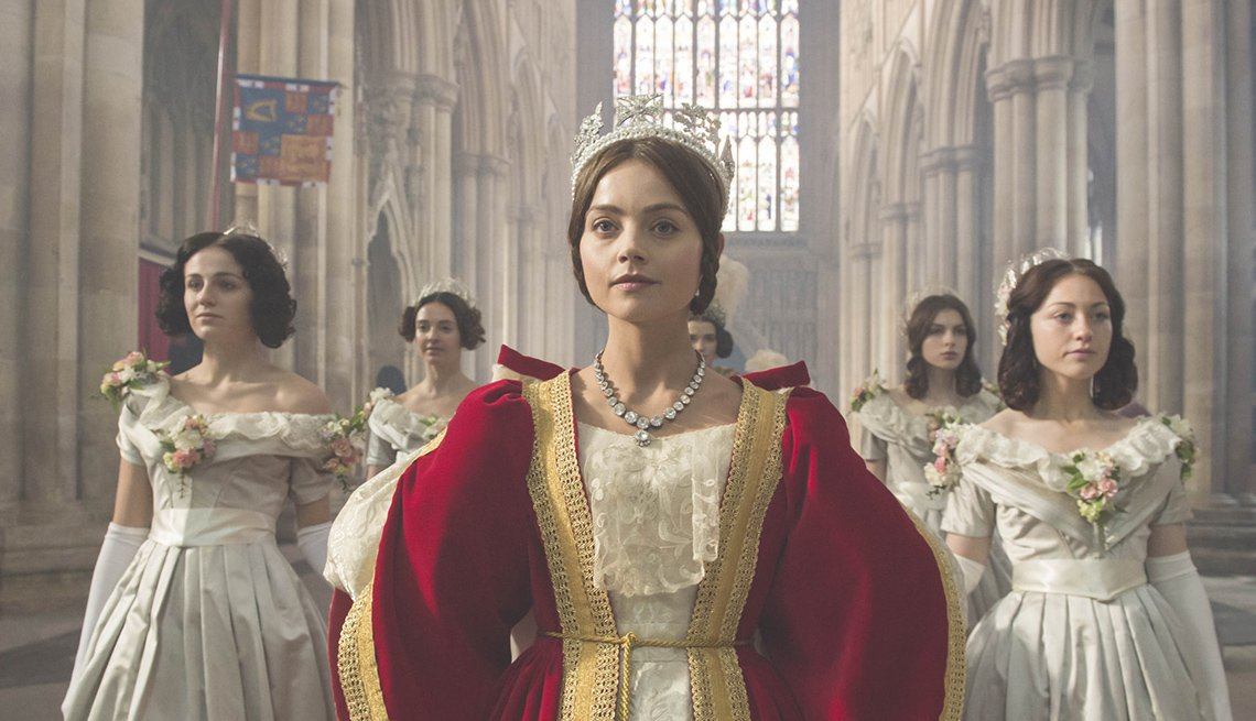 Jenna Coleman as young Queen Victoria in 'Victoria' on PBS