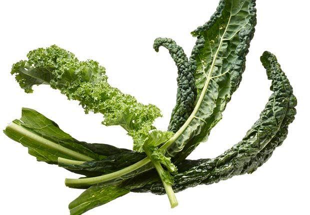 Kale shot on white