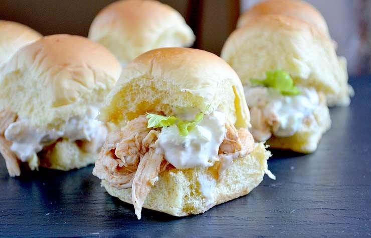 Pam Anderson Super Bowl Recipe Buffalo Chicken Sandwich