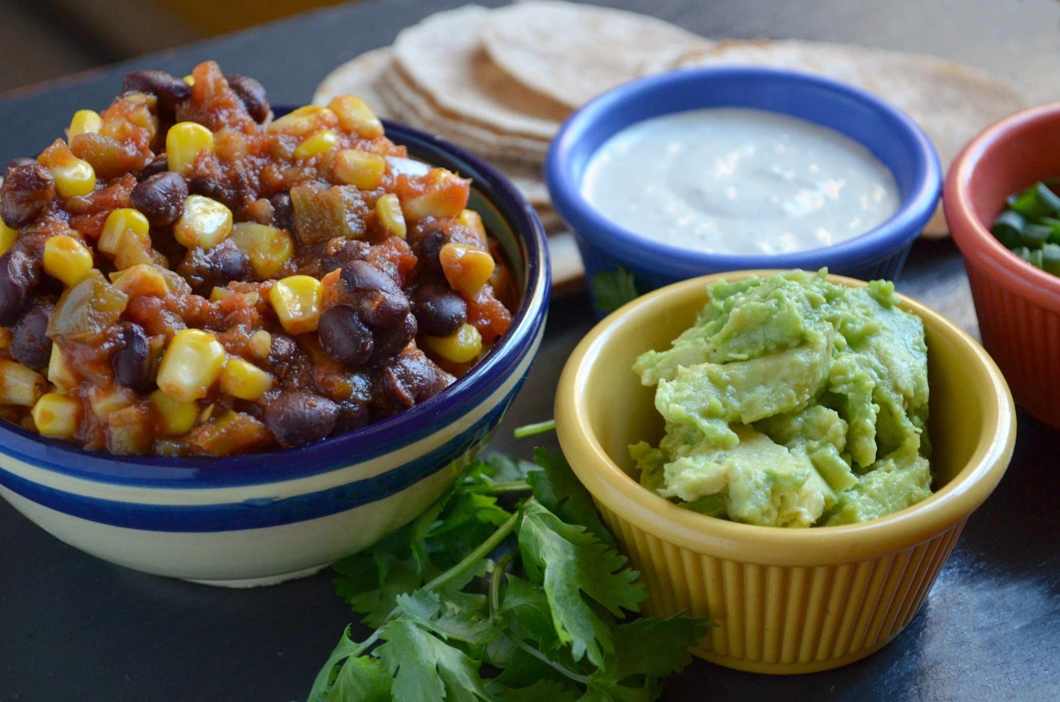 Pam Anderson Super Bowl Recipe Tacos Salsa Guacamole