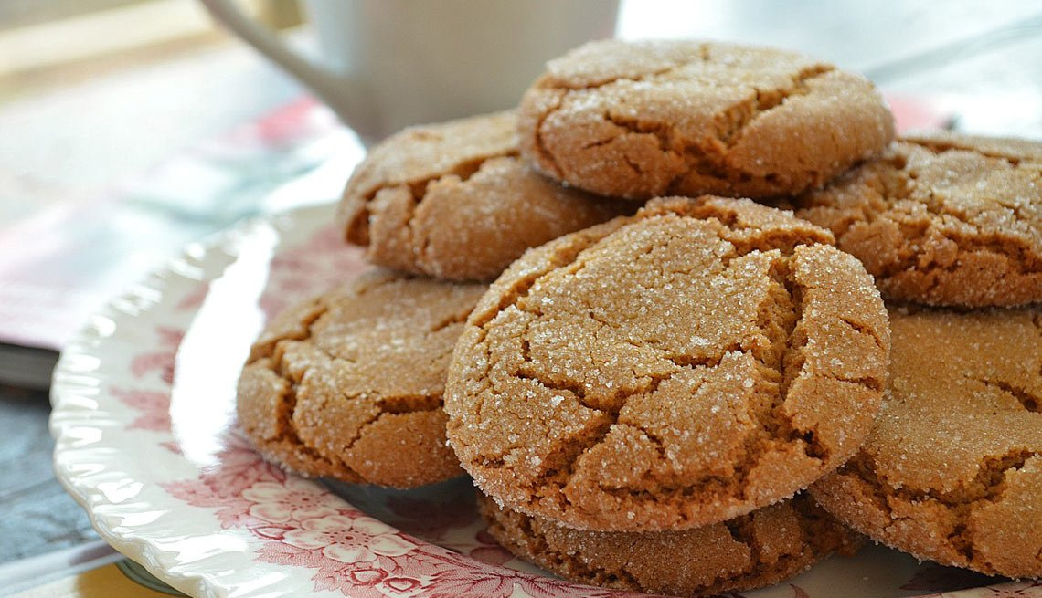 Crisp Chewy Ginger Cookies, recipe, Pam Anderson