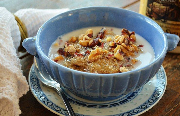 Warm Vanilla Amaranth Cereal.