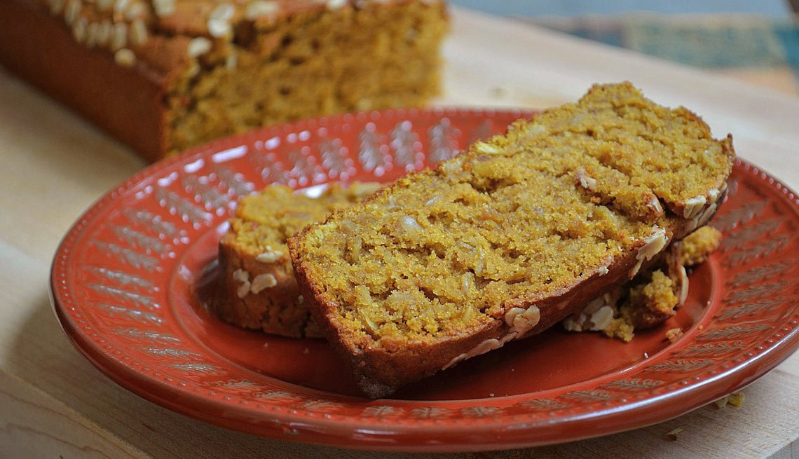 Pumpkin bread. Three better-for-you fall treats.