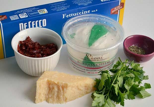 Pam Anderson Recipe Pasta Sauce Sundried Burrata Tomato