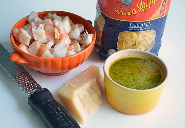 Pam Anderson Recipe Pasta Sauce Shrimp Pesto