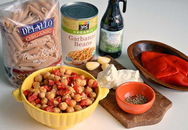 Pam Anderson Recipe Pasta Sauce Roasted Pepper Chickpea
