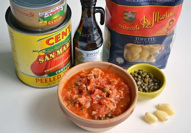 Pam Anderson Recipe Pasta Sauce Tuna Capers Tomato