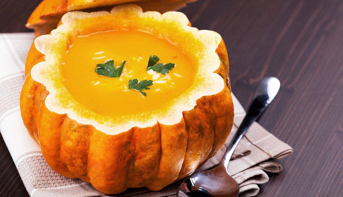 pumpkin, soup, food