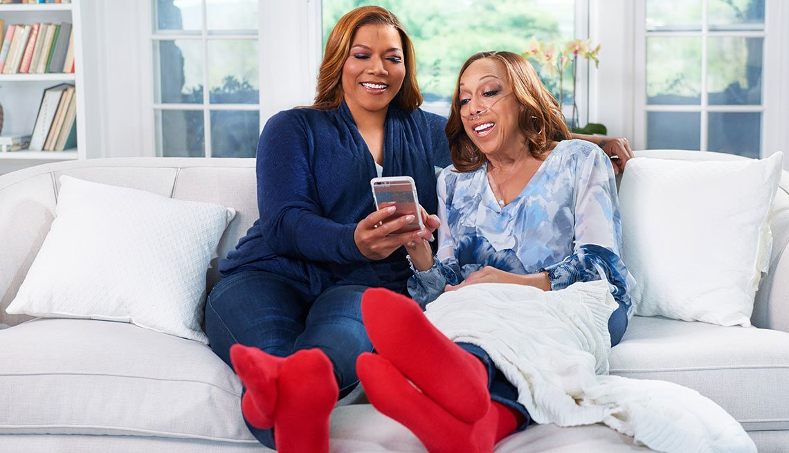 Queen Latifah talks with Amy Goyer about her role as caregiver for her mother