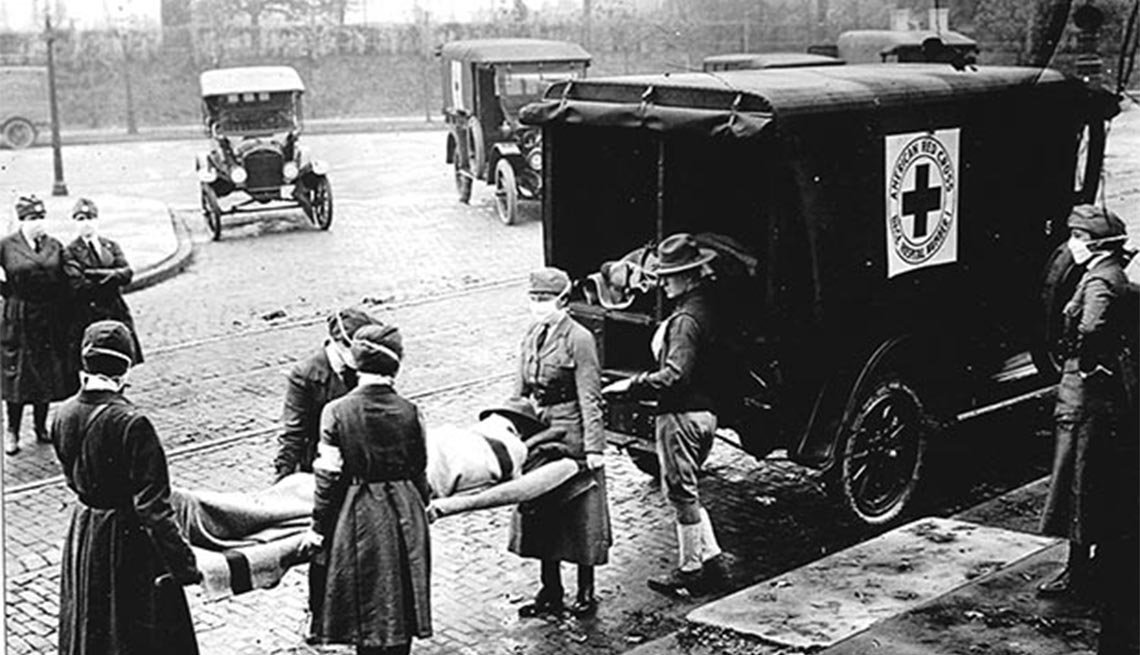 Red Cross Motor Corps, Spanish Influenza, Saint Louis, Missouri, October 1918, Plagues and Epidemics Through the Ages,