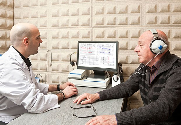 Doctor giving man a hearing test, How to Get the Right Hearing Aid: 10 Tips