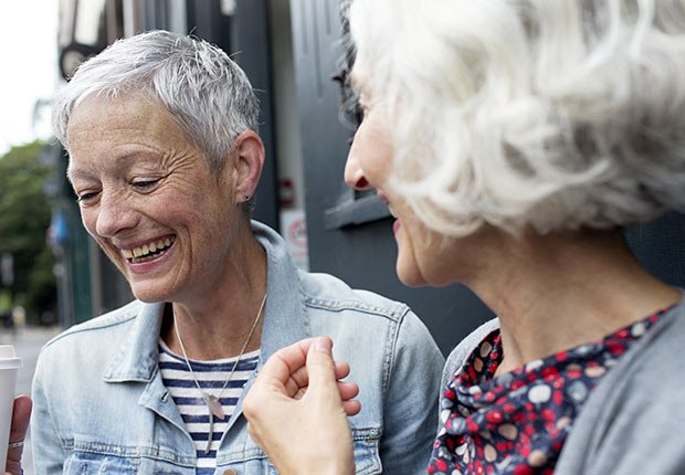Two women talking outside, How to Get the Right Hearing Aid: 10 Tips