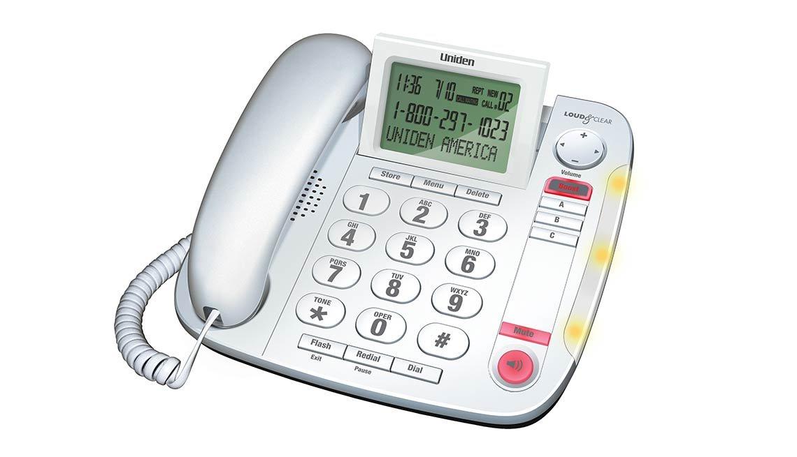 Teléfono de teclas grandes de escritorio Uniden
