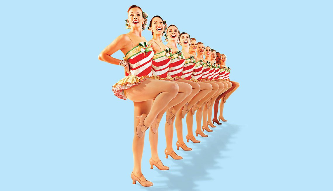 The Rockettes demonstrate stretches for your fitness routines