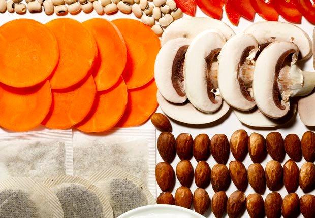 Mixed super foods (Sam Kaplan; Stylist: Matt Vohr for Halley Resources)