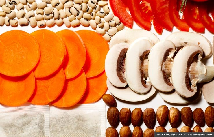 Mixed super foods (Sam Kaplan; Stylist: Matt Vohr for Halley Resources)
