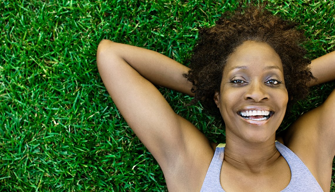 Mature woman, smiling, Personal Best: My Fitness
