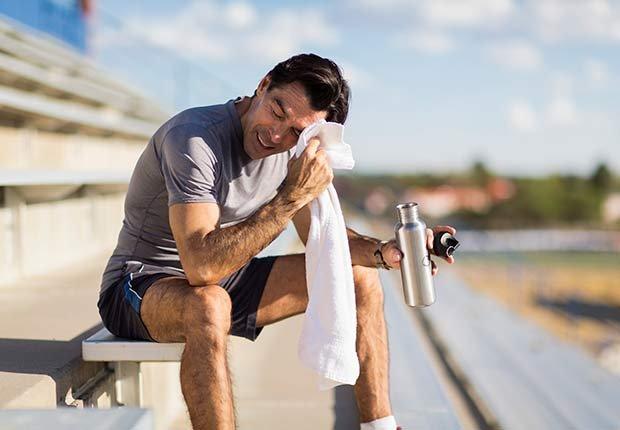 Fitness Flash High Intensity Training Health Benefits Healthier Heart Man Bleachers Stadium