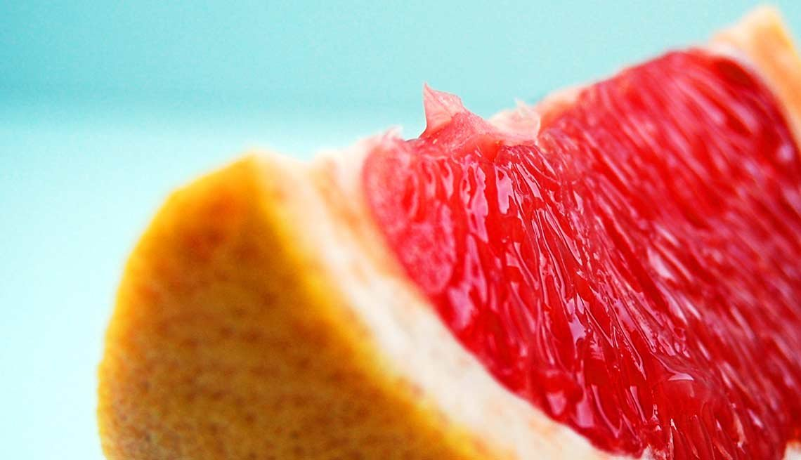 Grapefruit slice, food drug interaction