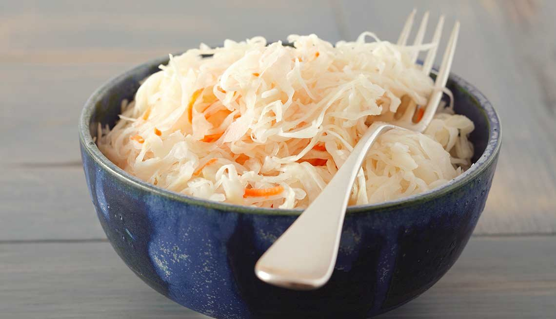Saurkraut in a bowl, Foods That Help Your Gut