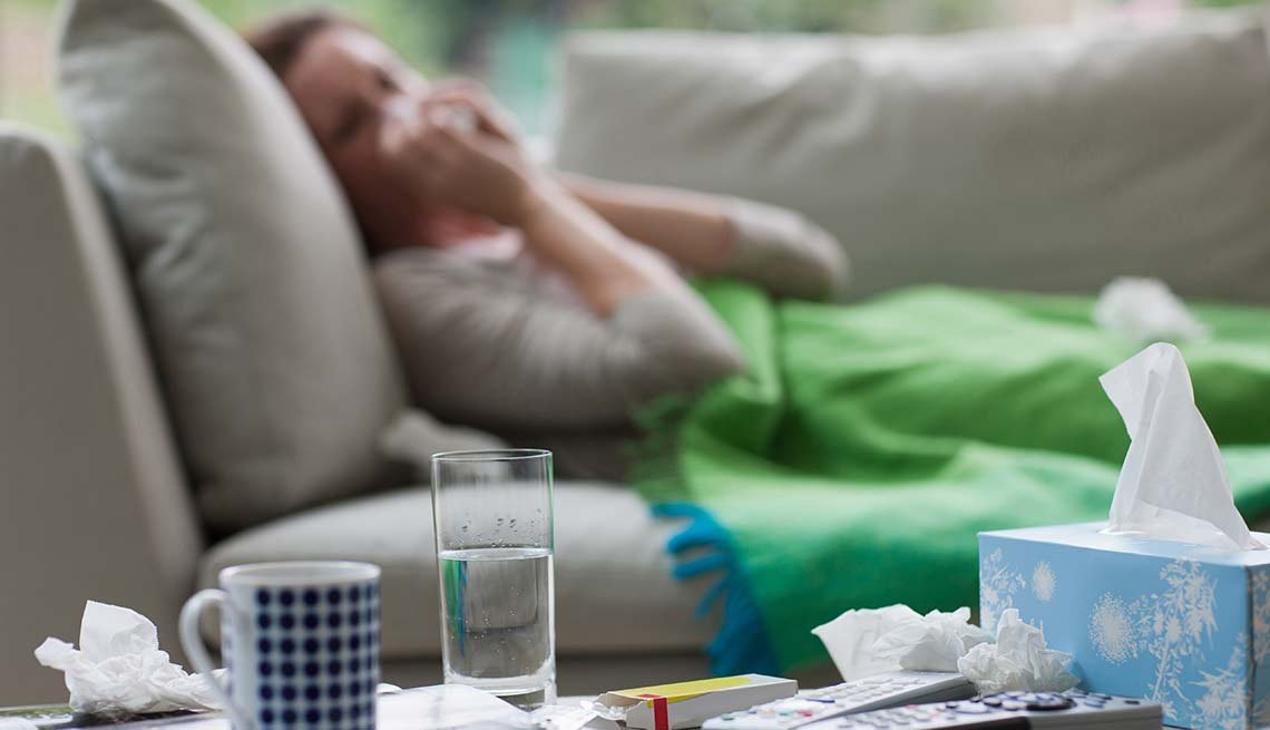 Fighting the Flu, Smartphone Health Apps Can Save Your Life, Sick person