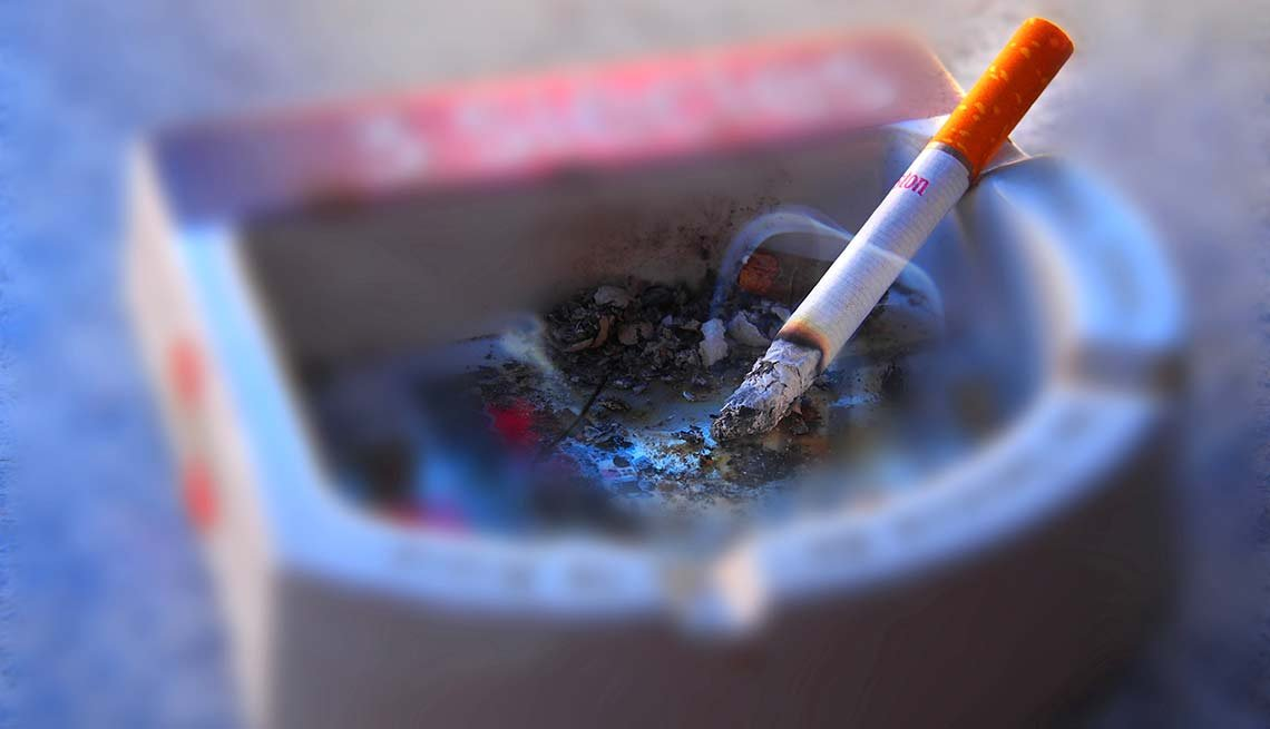 Cigarette in an ashtray, Smartphone Health Apps Can Save Your Life