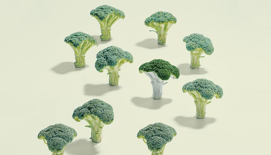 An arrangement of Broccoli, Foods That Help Eye Health