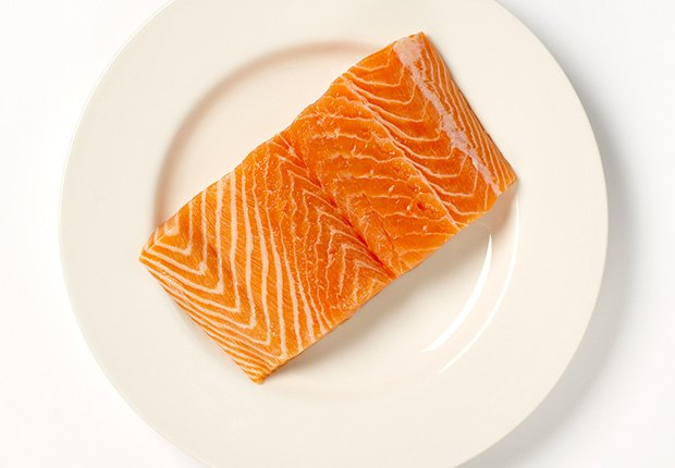 Salmon steak on a plate, Foods That Reduce Stress