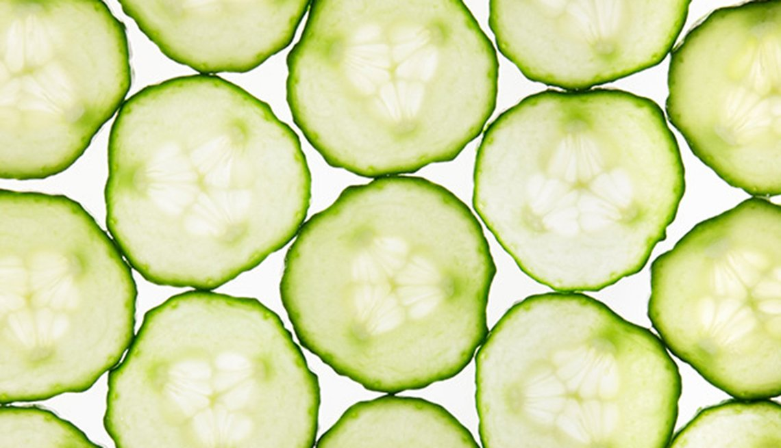 Cucumber slices, Health Boosters