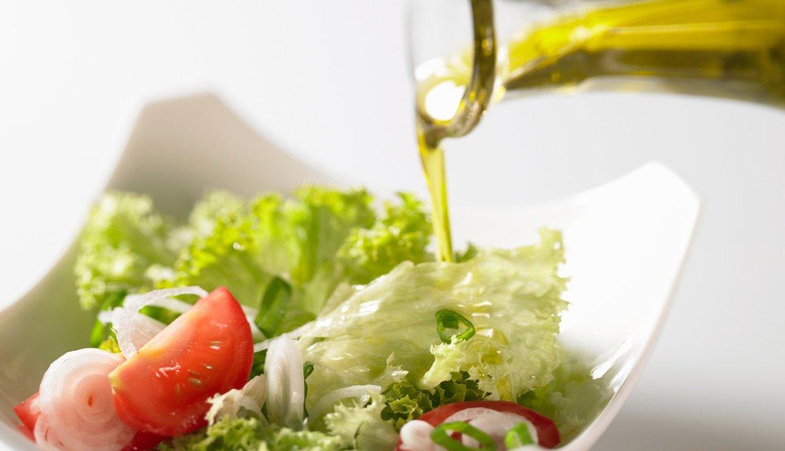 Oil poured on salad, Good Habits Go Bad