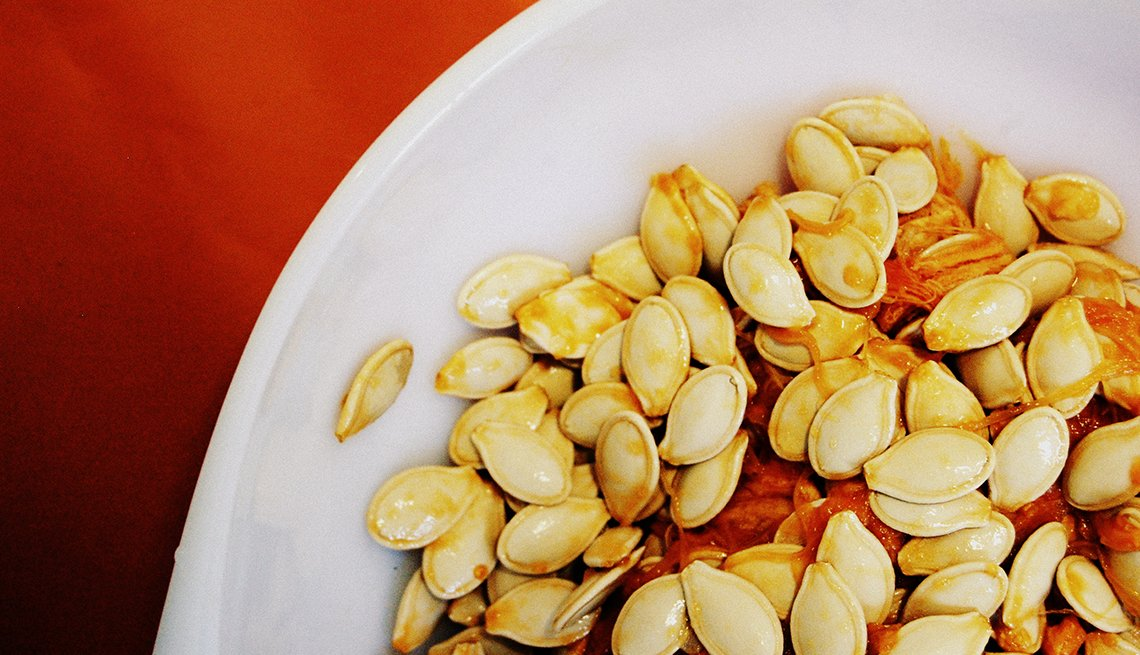 Pumpkin seeds,  Fat Busting Fall Foods