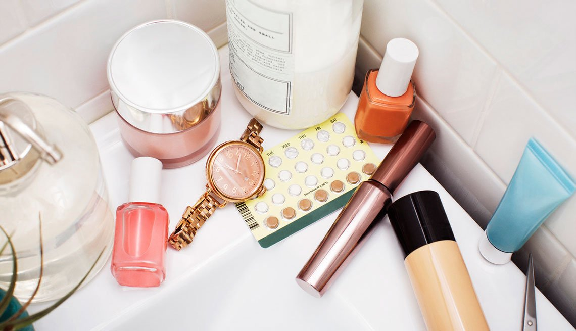 Cremas para la cara, maquillaje y anticonceptivos