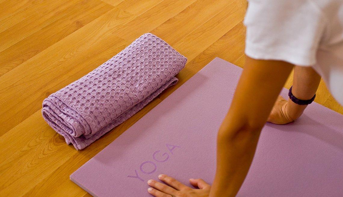 Yoga towel, yoga mat