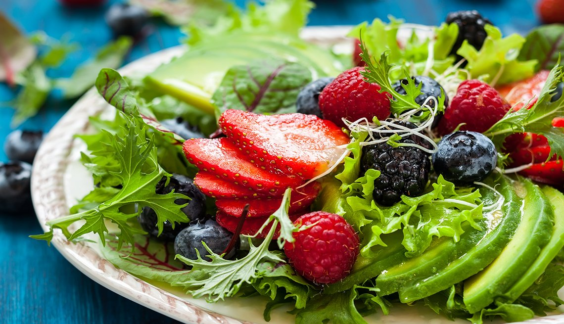 Avocado and Berry Fruit Salad