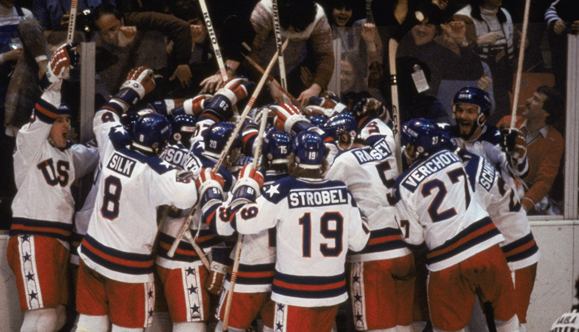 1980 Olympic U.S. Hockey Team Celebrates,  Miracle on Ice, How to Quadruple Your Energy