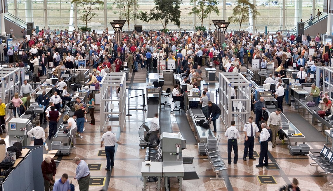 Security check-in, Denver International Airport