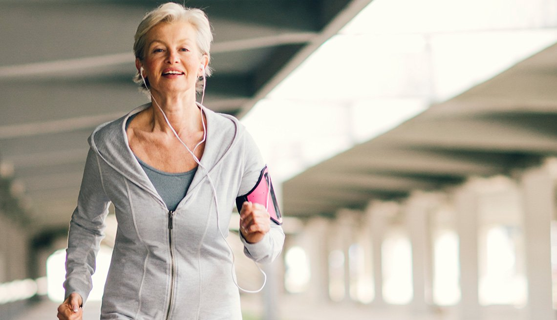 Woman Running, Living With Medicare