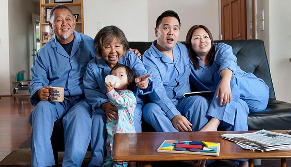 The Ng family (parents Karen and Melvin, son Jason, girlfriend Jamie and baby Addison) lives in a multigenerational household in Hawaii.