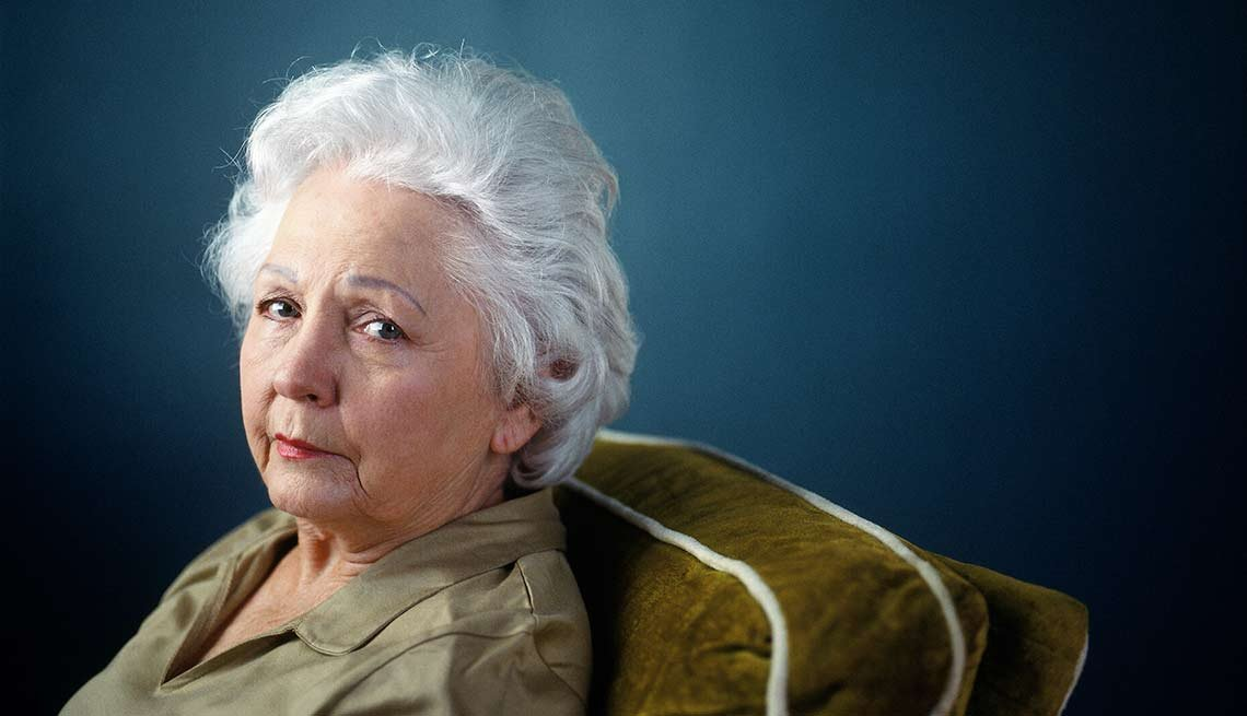Senior woman with sorrowful look, The Truth About Grief