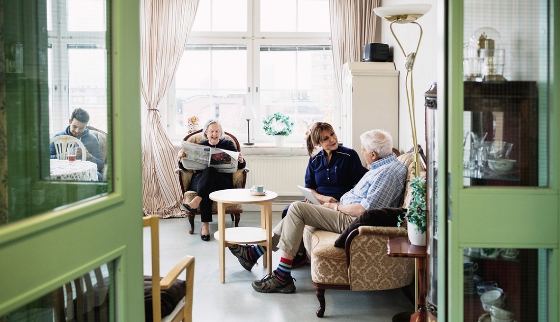 people sitting in room long distance caregiving