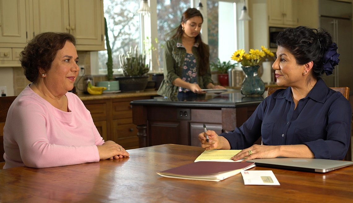 Scene from video Starting a Family Caregiving Conversation, Home and Family