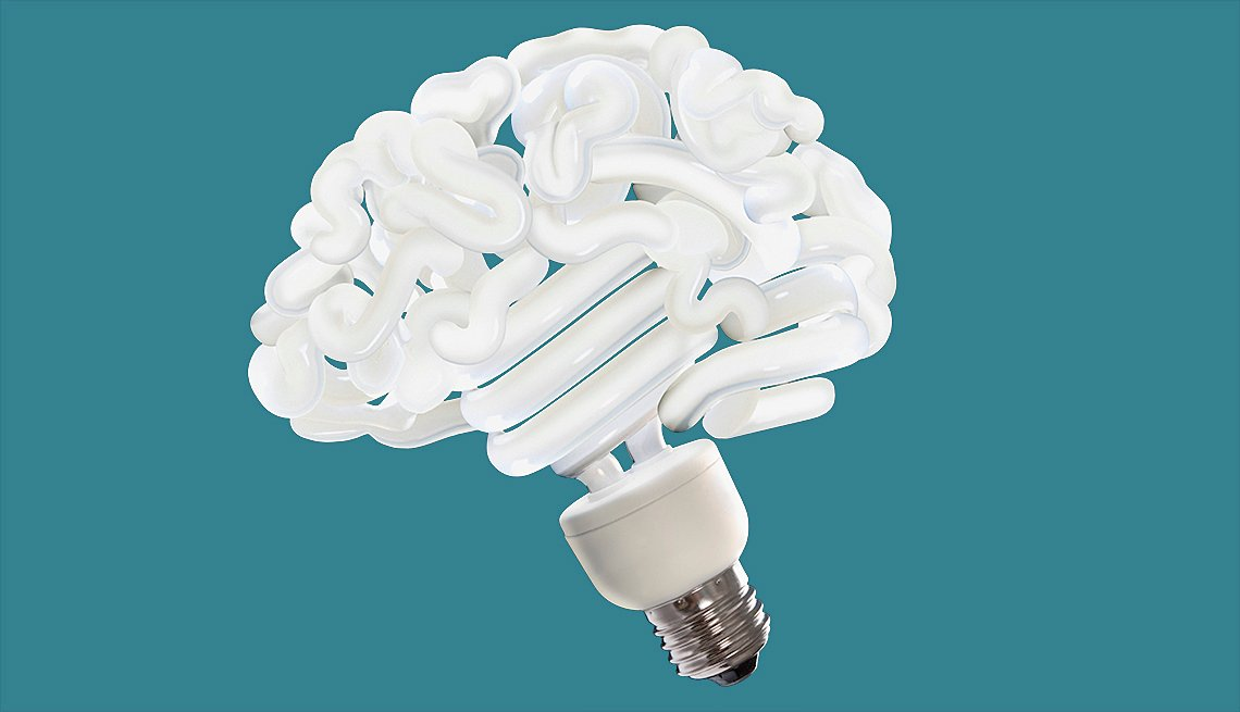 lightbulb shaped like a brain
