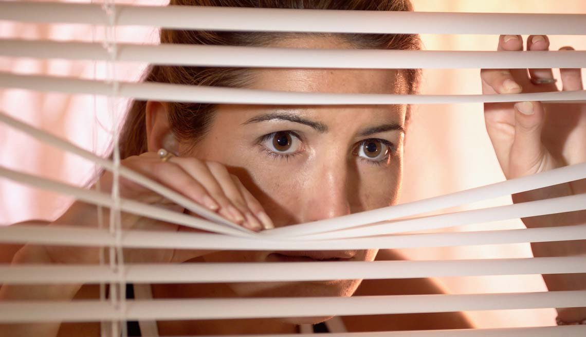 Woman Peering Through Blinds, Are You the Jealous Type?