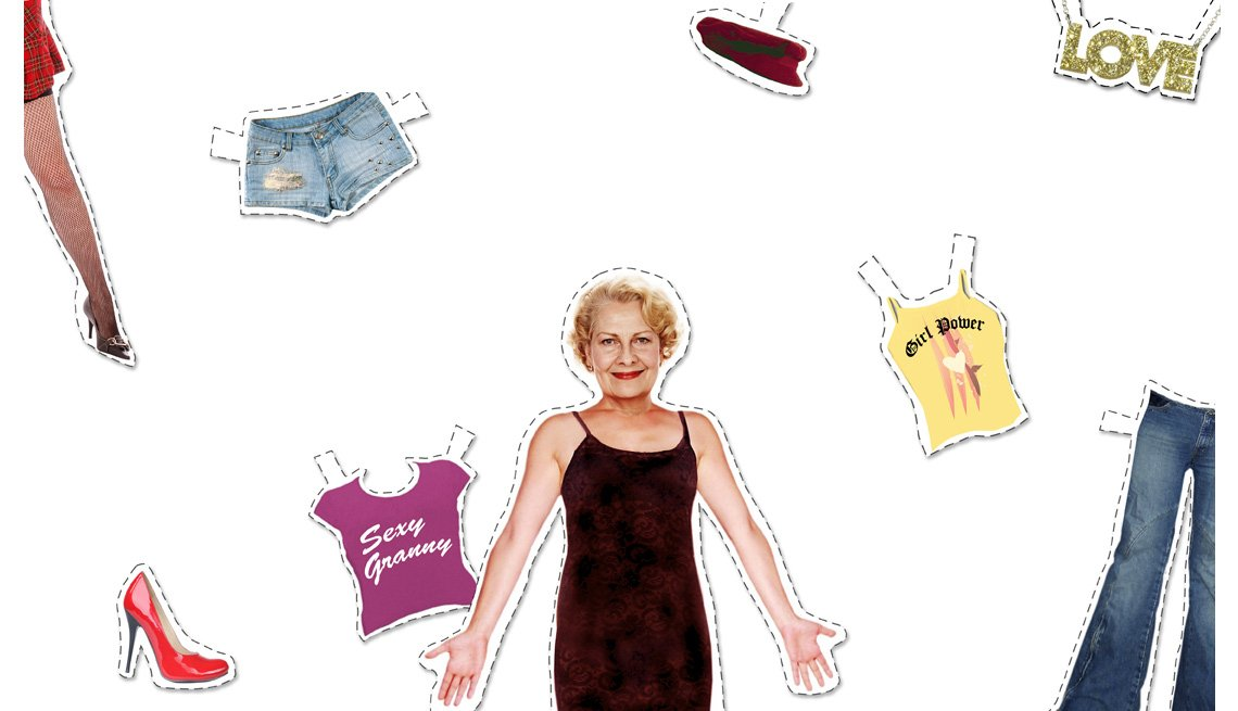 Paper Doll Cutout of 50+ Woman and Clothing Items, Things We Should Never Wear Again