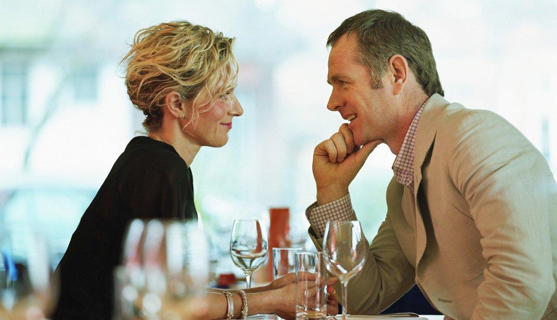 Man and Woman Dining, What You Shouldn't Say or Do on a First Date