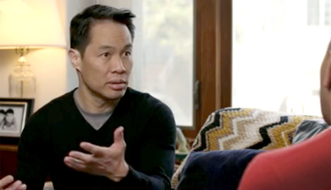 MSNBC anchor Richard Lui talking about care giving in an AARP video