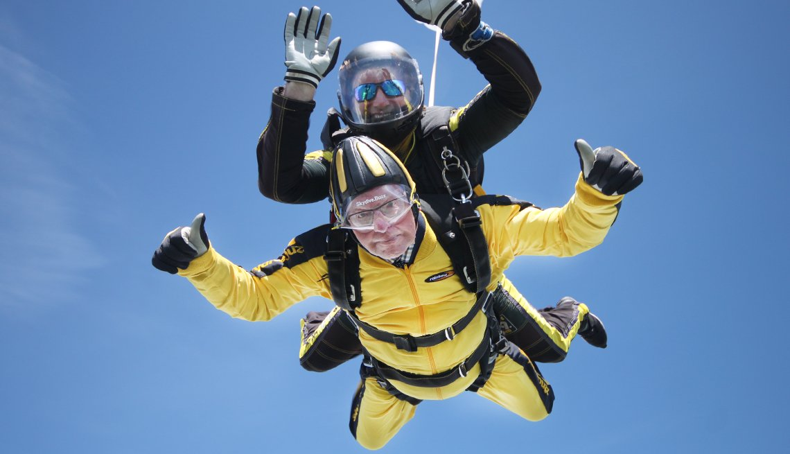 Bryson William Verdun Hayes  D-Day Vet Sets Record as Oldest Skydiver